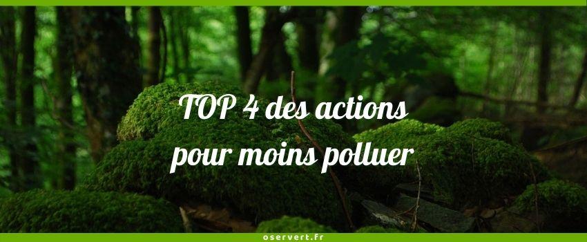 TOp 4 des actions pour moins polluer - couverture