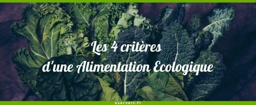 4 critères d'une alimentation écologique - couverture