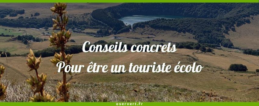 Conseils concrets pour etre un touriste écolo - couverture