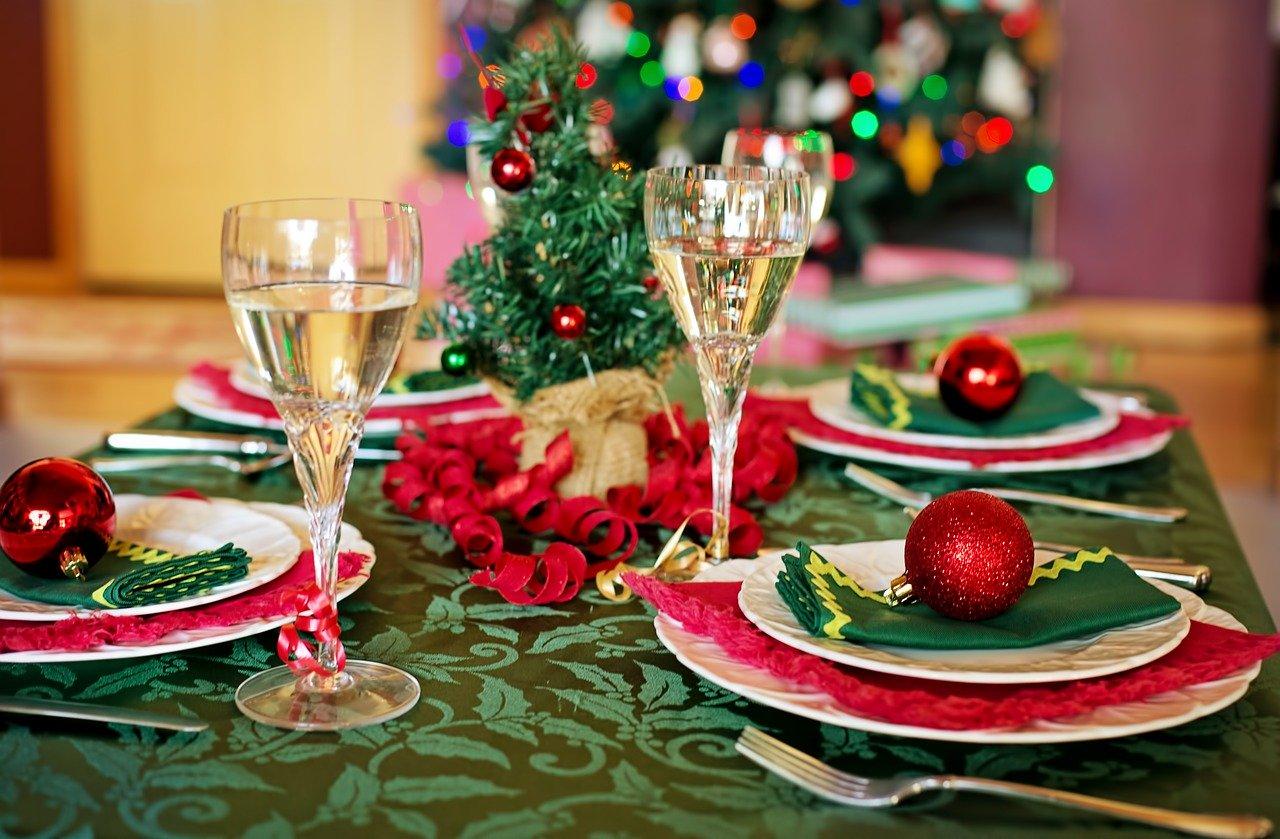 Table de fête, décorée pour Noel