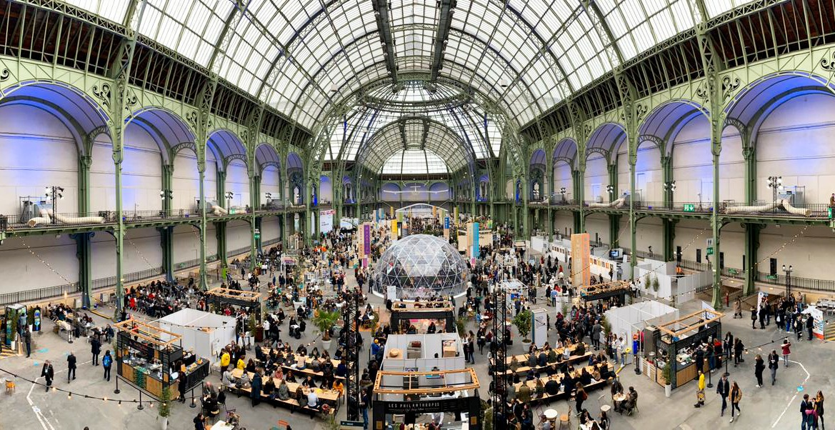 Le Grand Palais pendant le Change Now Summit