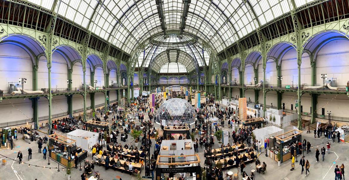Le Grand Palais pendant le Change Now Summit