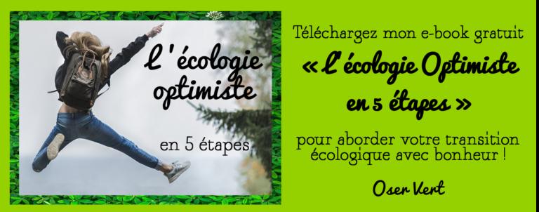"""Proposition pour télécharger l'ebook gratuit """"l'écologie optimiste"""""""
