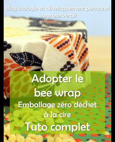 Tuto bee wrap : emballage zéro déchet