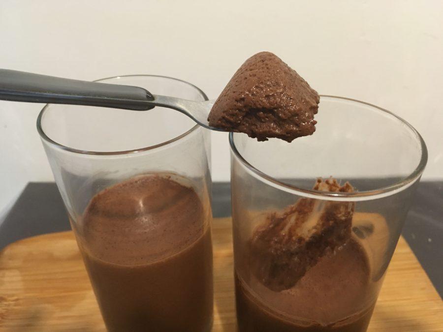 Mousse zéro déchet à l'eau de haricots rouges