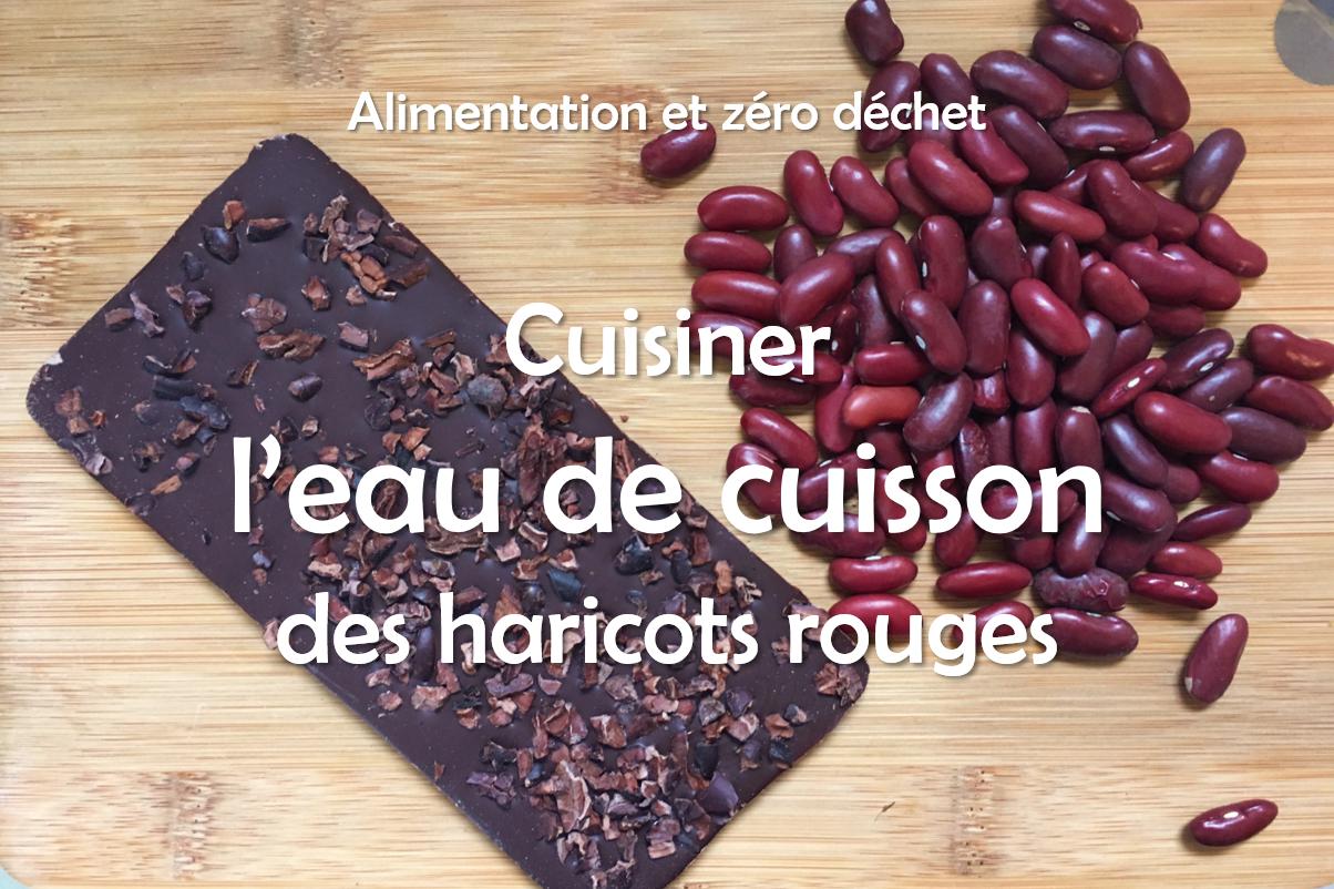 Recette à l'eau de haricots rouges : Mousse au chocolat