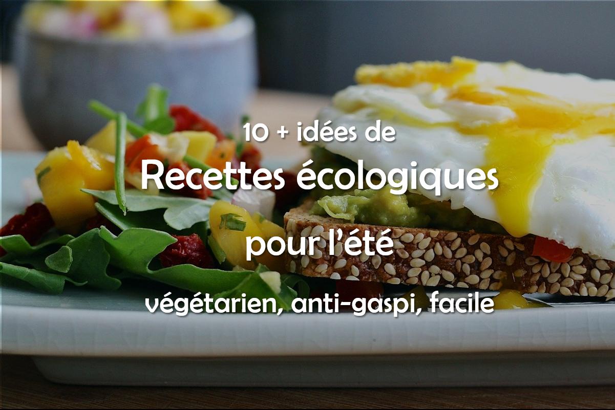 Idées de recettes végétariennes, anti gaspillage et faciles pour l'été
