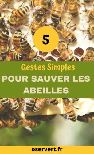 5 gestes simples sauver les abeilles