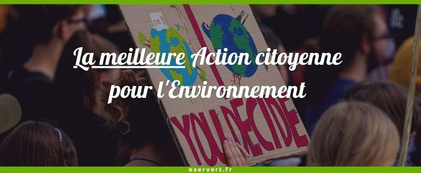 La meilleure action citoyenne pour l'environnement - coverture