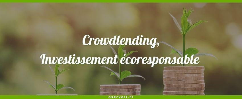 Crowdlending, investissement écoresponsable