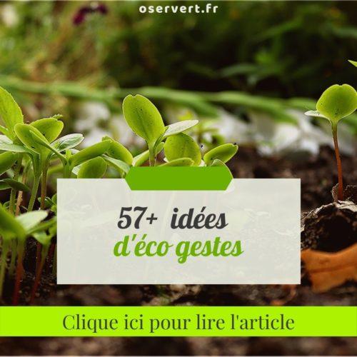 57+ idées d'éco gestes